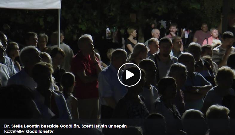 Dr. Stella Leontin beszéde a gödöllői Szent István-napi ünnepségen