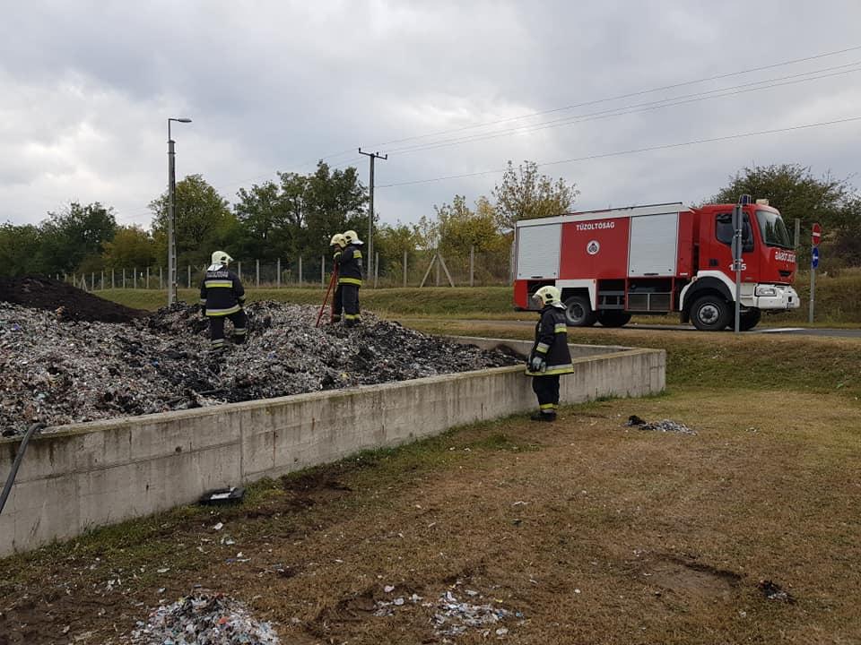 Tűz volt az éjszaka az Ökörtelek-völgyi hulladékkezelő központban