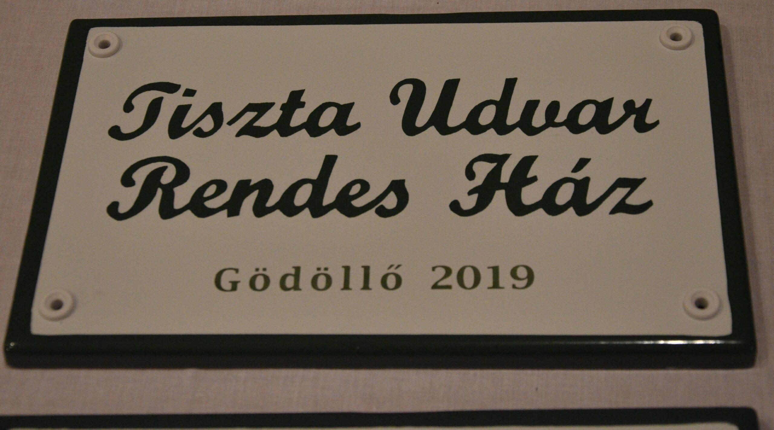 Átadták a Tiszta Udvar- Rendes Ház díjakat