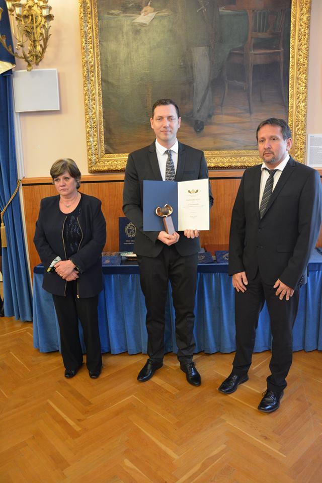 Fekete Dió díjat kapott Kovács Balázs