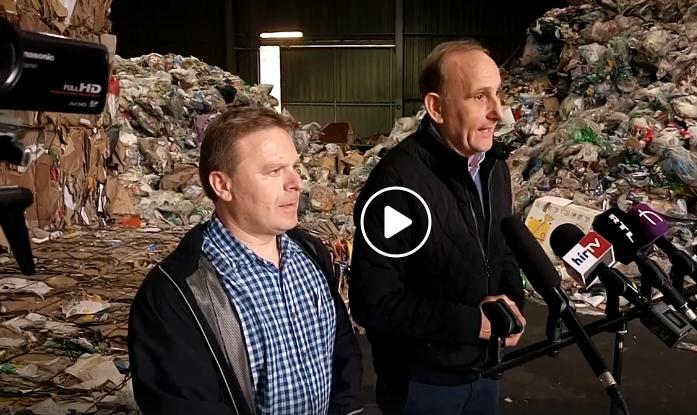 Sajtótájékoztató a hulladékkezelő központban