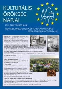 Gödöllő Város Önkormányzata Kulturális Örökség Napjai szeptember 18-19-én